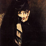 Portrait of Berthe Morisot with Hat, in Mourning, Édouard Manet