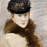 Mery Laurent Wearing a Small Toque, Édouard Manet