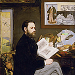 Édouard Manet - Portrait of Emile Zola