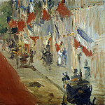 Rue Mosnier with Flags, Édouard Manet