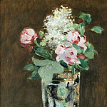 Flowers in a crystal vase, Édouard Manet