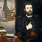 Édouard Manet - Portrait of the poet Zacharie Astruc