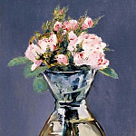 Édouard Manet - Mosee Roses in a Vase