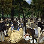 Music in the Tuileries Gardens, Édouard Manet