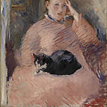 Édouard Manet - Woman with a Cat (Portrait of Madame Manet)