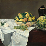 Still Life with Melon and Peaches, Édouard Manet
