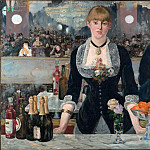A Bar at the Folies-Bergere, Édouard Manet