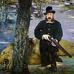 Édouard Manet - Portrait of the lion-hunter Pertuiset