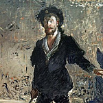 Portrait of Faure as Hamlet, Édouard Manet