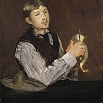 Édouard Manet - Young Man Peeling a Pear also known as Portrait of Leon Leenhoff