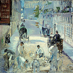 Édouard Manet - Rue Mosnier with Road Menders