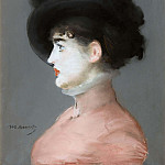 Woman in a black hat , Édouard Manet