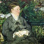 Madame Manet in the Conservatory, Édouard Manet