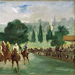 Races at Longchamp, Édouard Manet