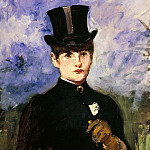Portrait of horsewoman, Édouard Manet
