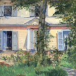 The house at Rueil, Édouard Manet