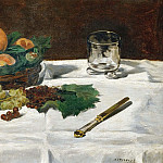 Still-life, fruit on a table, Édouard Manet