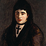 Spanish Woman Wearing a Black Cross, Édouard Manet
