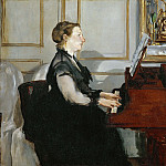 Édouard Manet - Madame Manet at the piano