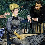 In the Conservatory, Édouard Manet