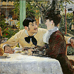 Édouard Manet - At Pere Lathuille's