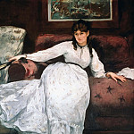 The rest or Portrait of Berthe Morisot, Édouard Manet
