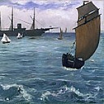 The Kearsarge at Boulogne, Édouard Manet