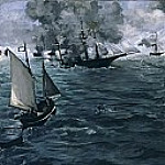 Édouard Manet - The Battle of the «Kearsarge» and the «Alabama»