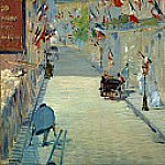 Édouard Manet - The Rue Mosnier with Flags