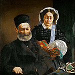 Portrait of Monsieur and Madame Manet, Édouard Manet