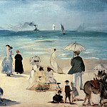Beach at Boulogne, Édouard Manet