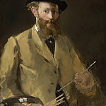 Self Portrait with Palette, Édouard Manet