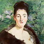 Woman in a fur coat, Édouard Manet