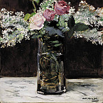 Vase of White Lilacs and Roses, Édouard Manet