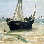 Fishing Boat on the Beach at Berck, Édouard Manet