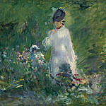 Young Woman among the Flowers, Édouard Manet