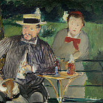 Portrait of Ernest Hoschede and his wife Marthe, Édouard Manet