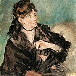 Portrait of Berthe Morisot with a Fan, Édouard Manet