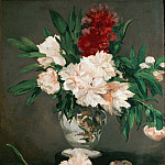 Vase with peonies, Édouard Manet