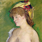 The Blond with Bare Breasts, Édouard Manet