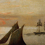 Édouard Manet - Boats at Sea. Sunset