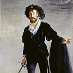 Portrait of Jean-Baptiste Faure in the role of Hamlet, Édouard Manet