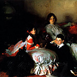 John Singer Sargent - Essie, Ruby and Ferdinand, Children of Asher Wertheimer