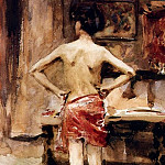 John Singer Sargent - The Model. Interior with Standing Figure