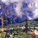 John Singer Sargent - Graveyard in the Tyrol