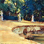John Singer Sargent - Pool in the Garden of La Granja
