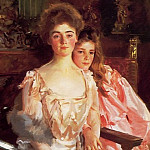 Mrs. Fiske Warren and Her Daughter Rachel, John Singer Sargent