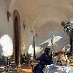 Breakfast in the Loggia, John Singer Sargent