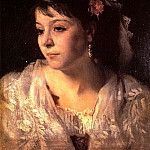 John Singer Sargent - Head of an Italian Woman