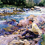Man Seated by a Stream, John Singer Sargent
